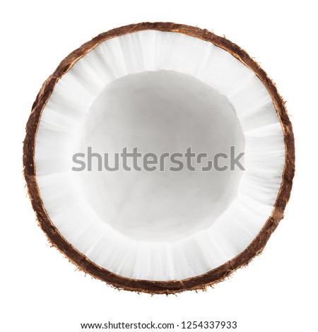 coconut, isolated on white background, full depth of field #1254337933