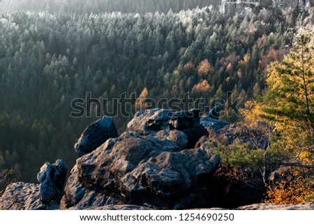 Landscape Saxony Switzerland #1254690250