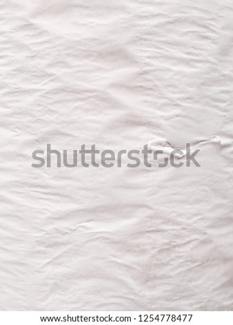 Vintage background form dirty crumpled white paper. #1254778477