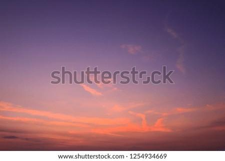 sky on twilight time #1254934669