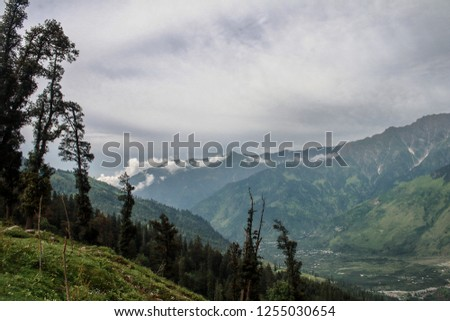 Rohtang a High mountain pass in Himachal, connecting India to the north - Leh Ladhak, Spiti Valleys #1255030654