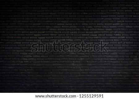 black texture with brick wall for background website or brickwork for design #1255129591
