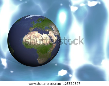 the earth on a blue background #125532827