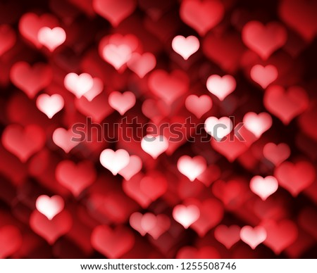 Decorative Valentines day background with bokeh lights and heart  #1255508746