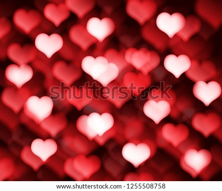 Decorative Valentines day background with bokeh lights and heart  #1255508758