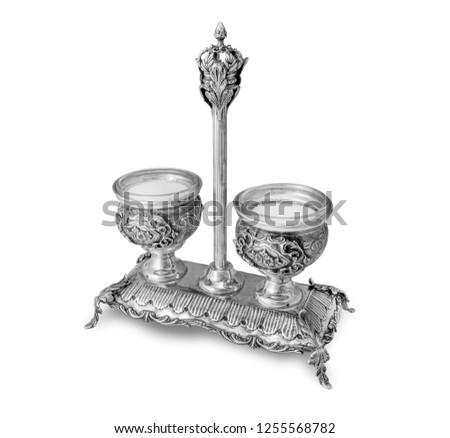 Sterling Silver Salt cellar / Salt holder #1255568782