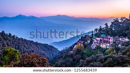 Breathtaking beauty of mountains Mussoorie in india, wallpaper scenery #1255683439