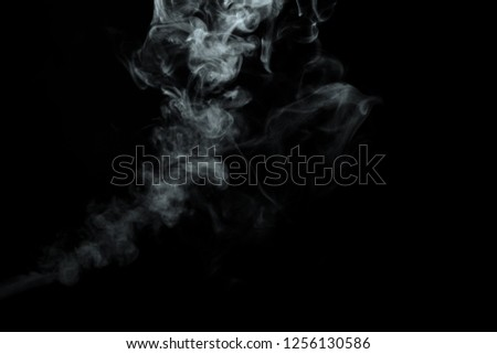 Abstract powder or smoke isolated on black background #1256130586