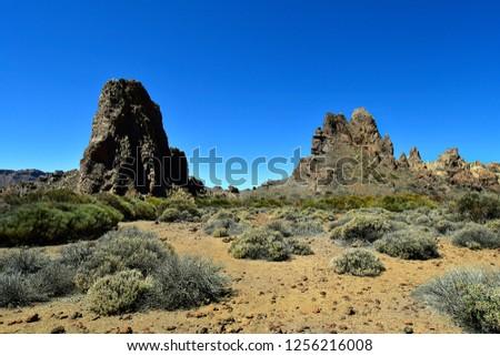 Spain, Canary Islands, Tenerife, rock formation Los Roques de Garcia in Teide national park #1256216008