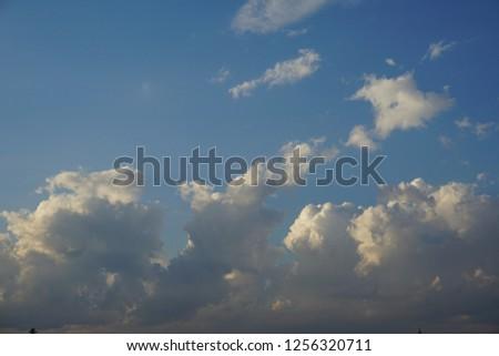 A field with an evening sky #1256320711