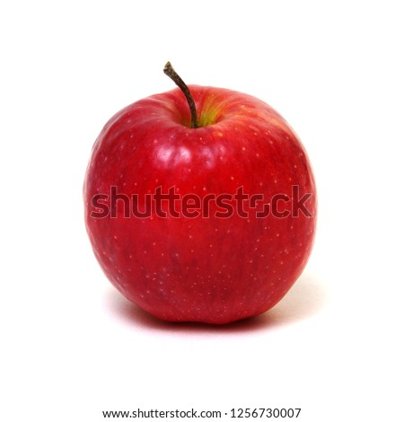Fresh red apple isolated on white. #1256730007