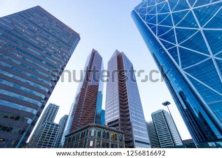 calgary downtown city skyline #1256816692