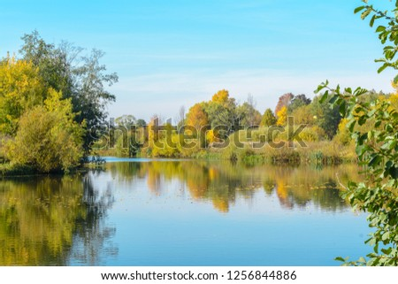 Forest river in early autumn #1256844886
