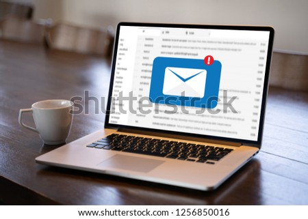 Mail Communication Connection message to mailing contacts phone Global Letters Concept #1256850016
