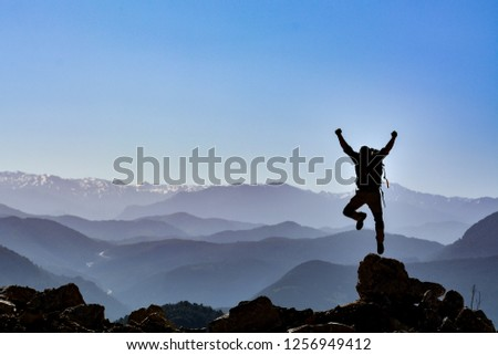 energetic movements of a successful climber #1256949412