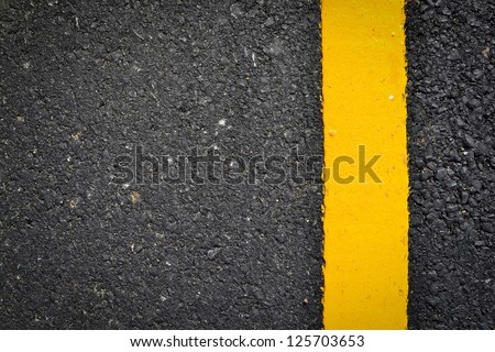 new yellow line on the road texture #125703653