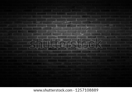 Black wall texture background The surface of the brick dark jagged. or abstract black wall background #1257108889