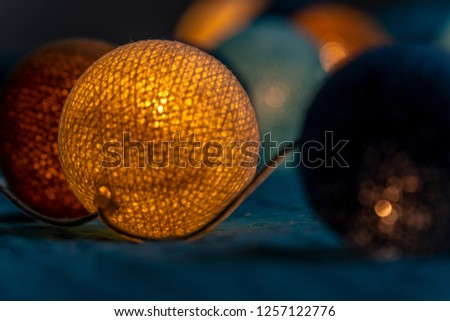 Closeup Photo of Christmas Decoration Lights - Partly Blurred, Background Material #1257122776