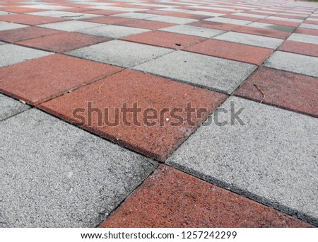 Red floor is square pattern - Image #1257242299
