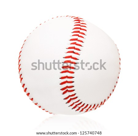 Single baseball ball, isolated on white background #125740748