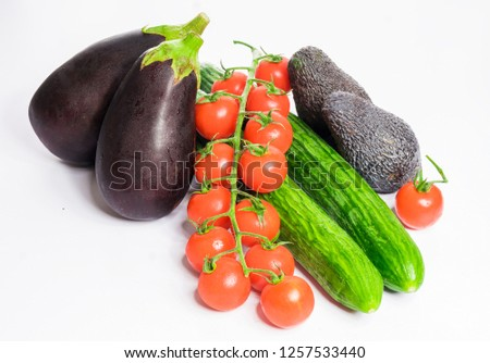 beautiful fresh vegetables were photographed in the studio #1257533440