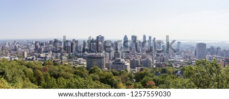 Views of Montreal from Mont-Royal (Canada) #1257559030