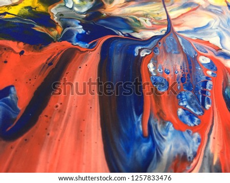 Abstract Art Acrylic Painting Texture Background #1257833476
