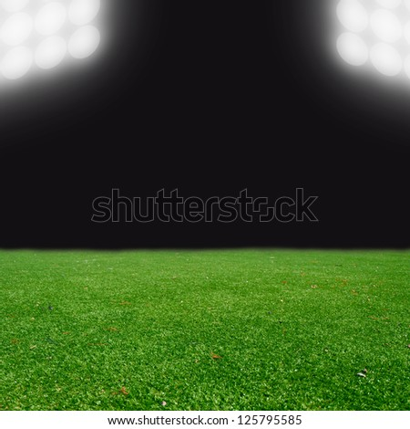 soccer field with the lights #125795585