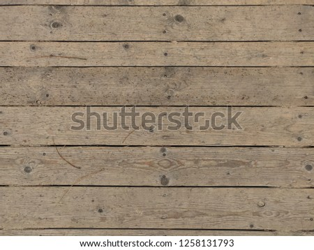 wooden planks worn with nails #1258131793