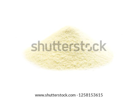 Milk powder isolated on white background #1258153615
