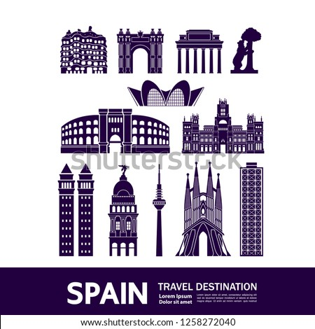 Spain Travel Destination Vector illustration. #1258272040