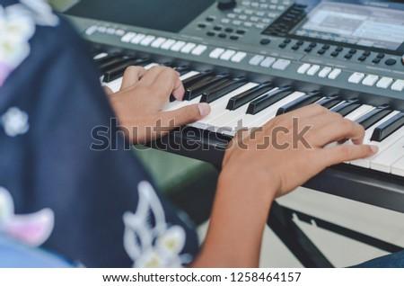 electric piano photo #1258464157