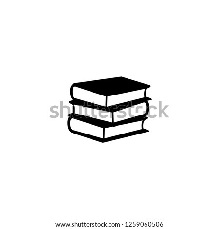 book stack vector, black icon