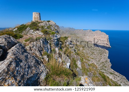 The ruins of the old fortress in Mallorca #125921909