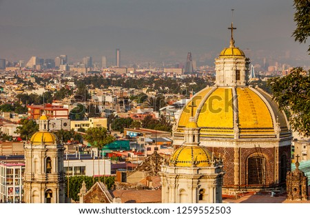 Mexico City. Mexico, may 2018.Old Basilica Our Lady of Guadalupe, Mexico City, Mexico #1259552503