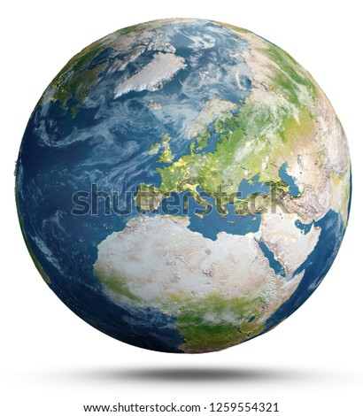 Planet Earth concept. Elements of this image furnished by NASA. 3d rendering #1259554321