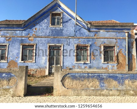 blue old house #1259654656