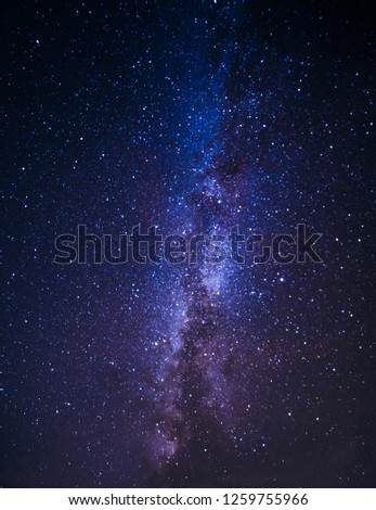 Milky Way Galaxy with stars background, long exposure #1259755966