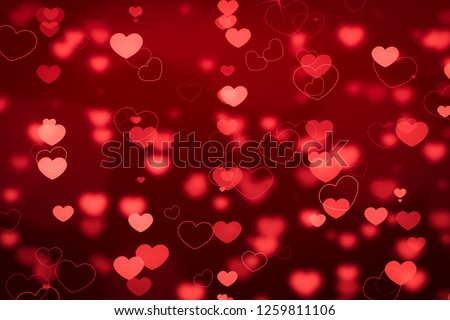 Abstract blur background. pink pastel heart love bokeh valentine's day happy concept #1259811106