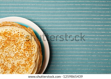Staple of yeast pancakes, traditional for Russian pancake week (Shrove tide) #1259865439