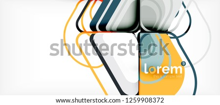Abstract background - multicolored geometric shapes modern design. Trendy abstract layout template for business or technology presentation or web brochure cover, wallpaper. Vector illustration #1259908372
