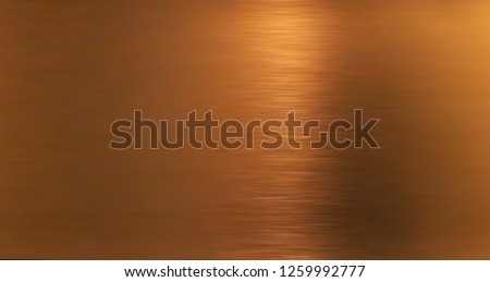 Golden hairline stainless. Shiny gold foil, bronze, or copper metal pattern surface texture. Close-up of interior material for design decoration background #1259992777