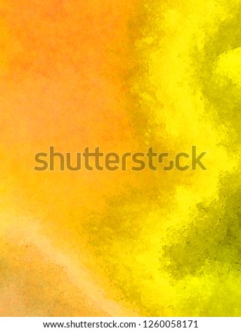 Watercolor paper background. Abstract Painted Illustration. Brush stroked painting. #1260058171