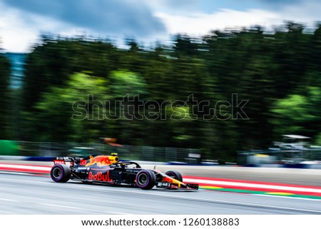 Spielberg/Austria - 06/29/2018 - Max Verstappen (NDL) in his Red Bull Racing RB14 during the Friday afternoon practice ahead of the 2018 Austrian Grand Prix at the Red Bull Ring #1260138883