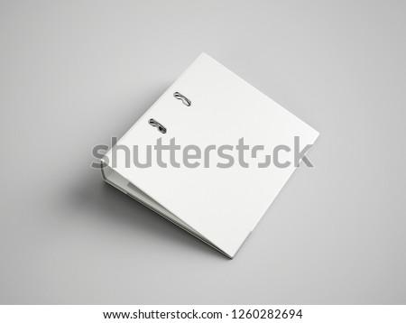 White Binder File Folder Royalty-Free Stock Photo #1260282694