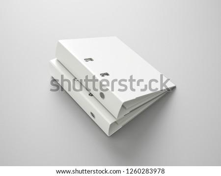 White Binder File Folder Royalty-Free Stock Photo #1260283978