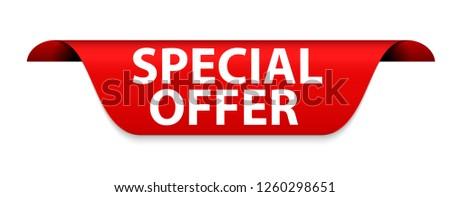 Special Offer Red Label  Illustration  #1260298651