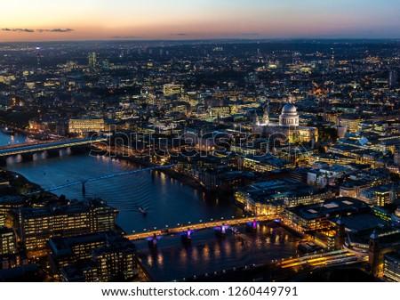 London evening skyline #1260449791