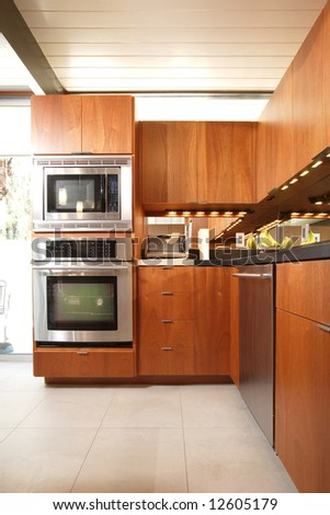 A modern kitchen that has been freshly remodeled #12605179