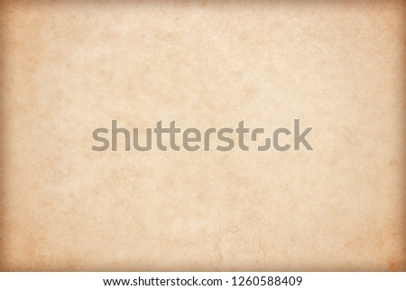 Old Paper texture. vintage paper background or texture; brown paper texture #1260588409